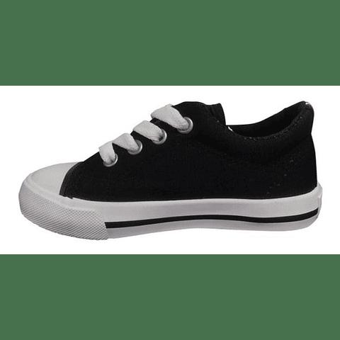 Zapatillas Pasos Niños Negro 27 Cl Topper
