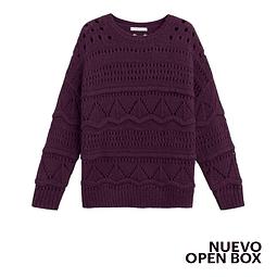 Sweater Calado Dennis Violeta L Violeta By Mango