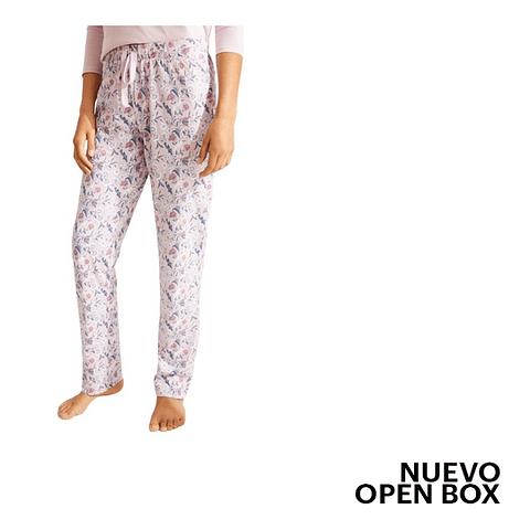 Pantalón Pijama Rosado Con Estampado Floral Xl Womens Secret