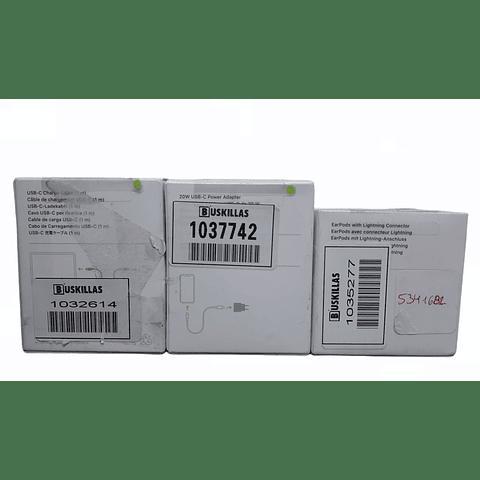 Pack Audífonos Earbuds, Cable y Cargador USB-C