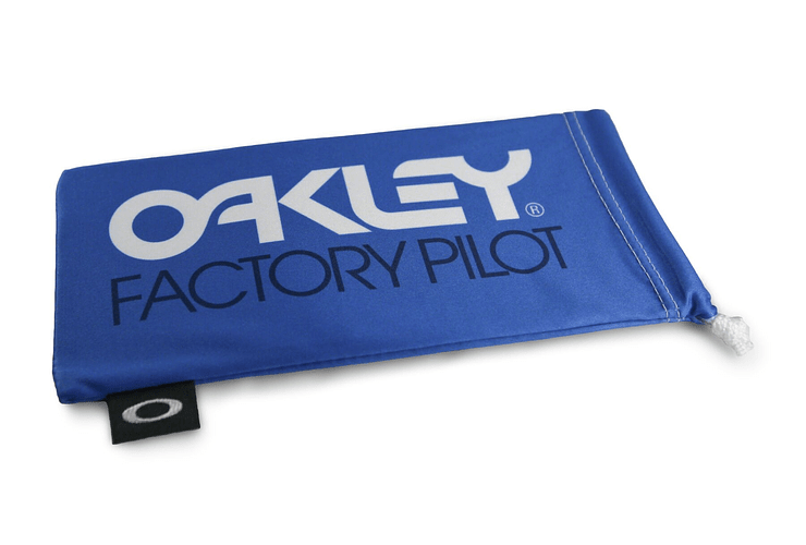 Estuche de microfibra Oakley Factory Pilot Blue/Whte