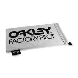 Estuche de microfibra Oakley Factory Pilot White/Black