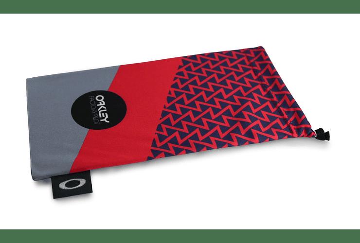 Estuche de microfibra Oakley FP Printed French Red/Grey