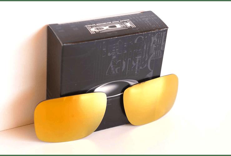 Lente de repuesto/reemplazo Oakley Holbrook color 24k GOLD cod. 43-350 - Image 2