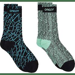 Calcetines Oakley Multicolor Printed Socks (2 Pcs) M FOS900100-98H__M