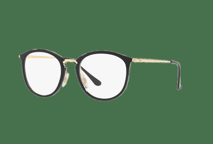 Armazón óptico Ray Ban Round RX7140 Shiny Black cod. RX7140 2000 51 - Image 1