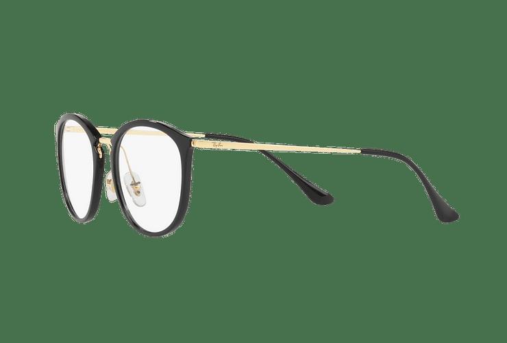 Armazón óptico Ray Ban Round RX7140 Shiny Black cod. RX7140 2000 51 - Image 2
