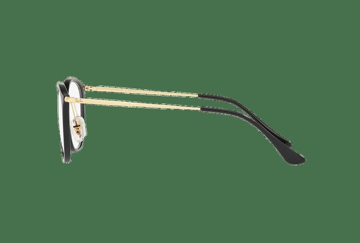 Armazón óptico Ray Ban Round RX7140 Shiny Black cod. RX7140 2000 51 - Image 3