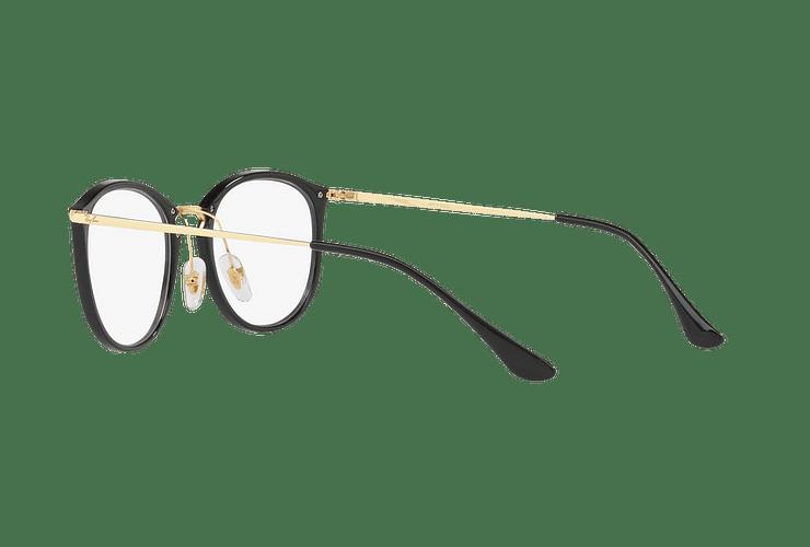 Armazón óptico Ray Ban Round RX7140 Shiny Black cod. RX7140 2000 51 - Image 4