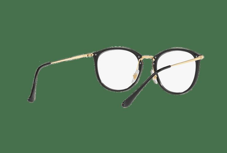 Armazón óptico Ray Ban Round RX7140 Shiny Black cod. RX7140 2000 51 - Image 7