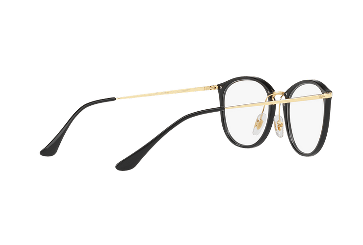 Armazón óptico Ray Ban Round RX7140 Shiny Black cod. RX7140 2000 51 - Image 8