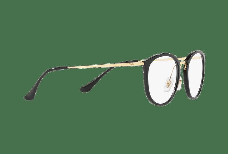 Armazón óptico Ray Ban Round RX7140 Shiny Black cod. RX7140 2000 51 - Image 10