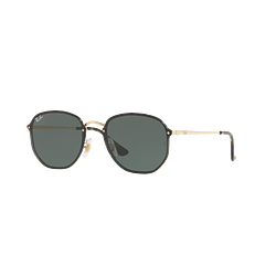 Ray-Ban Blaze Hexagonal Gold lente Green cod. RB3579N 001/71 58