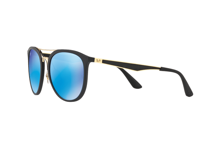 Ray Ban Round RB4285 Matte Black lente Blue Mirror cod. RB4285 601S55 55 - Image 2