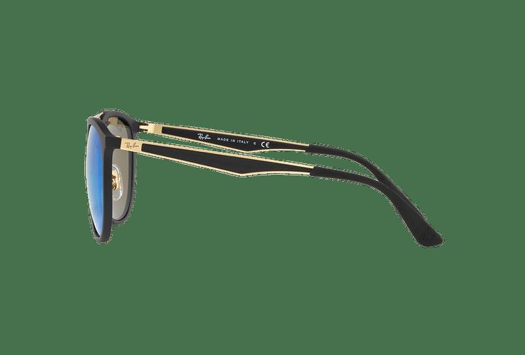 Ray Ban Round RB4285 Matte Black lente Blue Mirror cod. RB4285 601S55 55 - Image 3