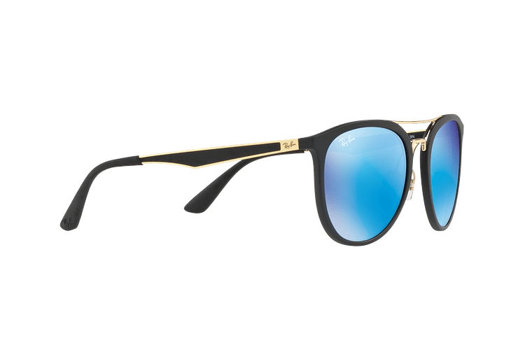 Ray Ban Round RB4285 Matte Black lente Blue Mirror cod. RB4285 601S55 55 - Image 10