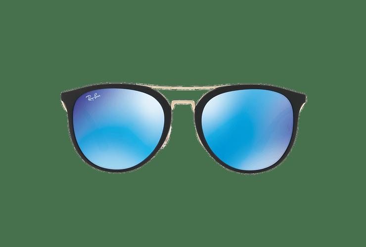 Ray Ban Round RB4285 Matte Black lente Blue Mirror cod. RB4285 601S55 55 - Image 12