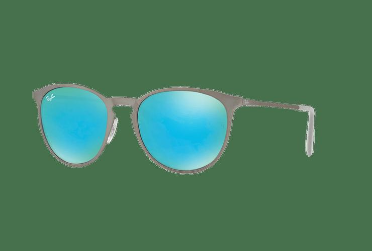 Ray Ban Erika Metal Rubber Gunmetal lente Blue / Green Light Flash cod. RB3539 9015B4 54 - Image 1