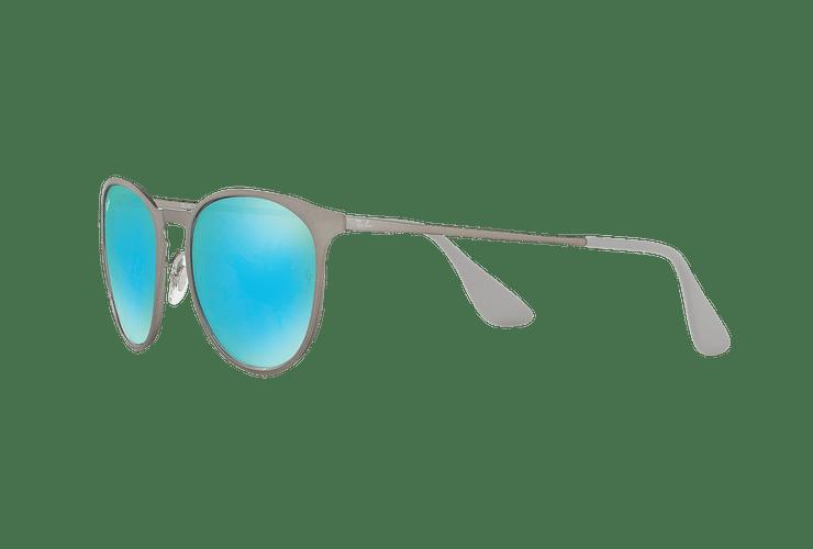 Ray Ban Erika Metal Rubber Gunmetal lente Blue / Green Light Flash cod. RB3539 9015B4 54 - Image 2