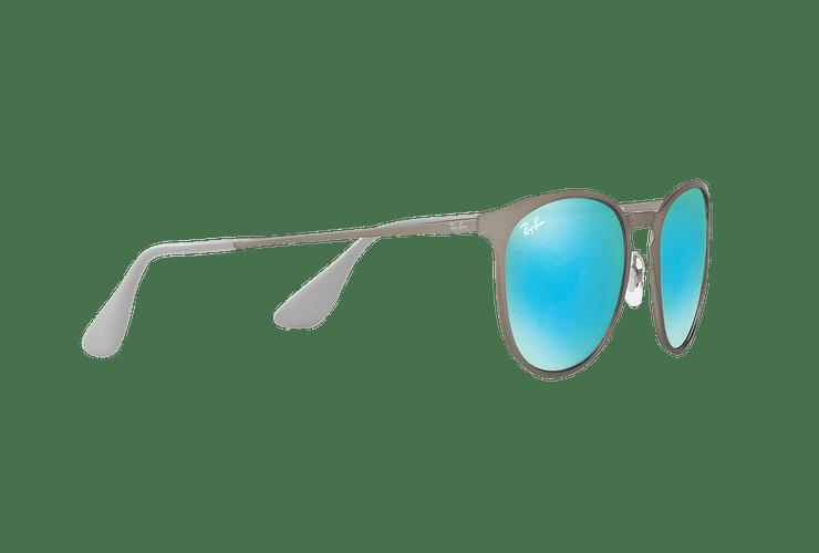Ray Ban Erika Metal Rubber Gunmetal lente Blue / Green Light Flash cod. RB3539 9015B4 54 - Image 10