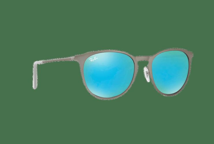 Ray Ban Erika Metal Rubber Gunmetal lente Blue / Green Light Flash cod. RB3539 9015B4 54 - Image 11