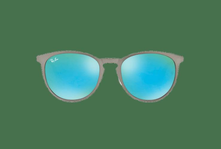 Ray Ban Erika Metal Rubber Gunmetal lente Blue / Green Light Flash cod. RB3539 9015B4 54 - Image 12