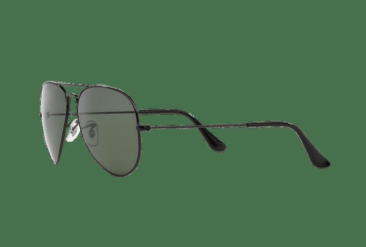 Ray Ban Aviador Black lente Crystal Green Polarized cod. RB3025 002/58 55 - Image 2