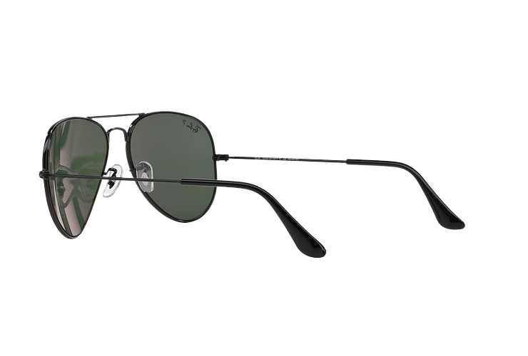 Ray-Ban Aviador Black lente Crystal Green Polarized cod. RB3025 002/58 55 - Image 4