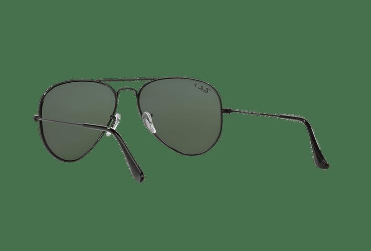Ray Ban Aviador Black lente Crystal Green Polarized cod. RB3025 002/58 55 - Image 5