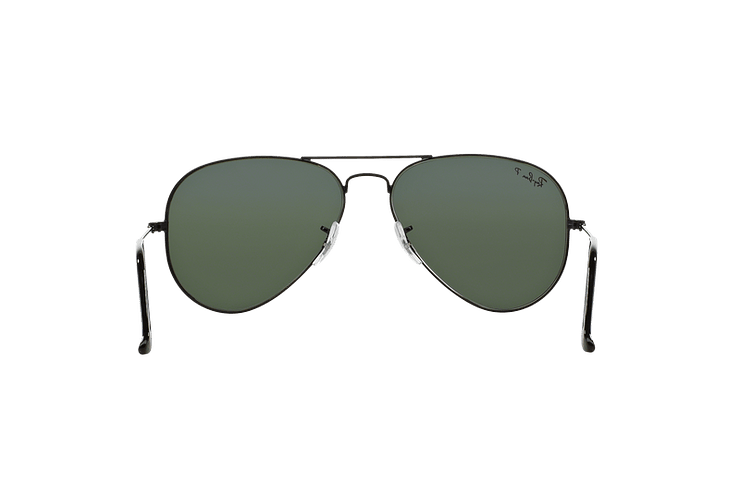Ray-Ban Aviador Black lente Crystal Green Polarized cod. RB3025 002/58 55 - Image 6