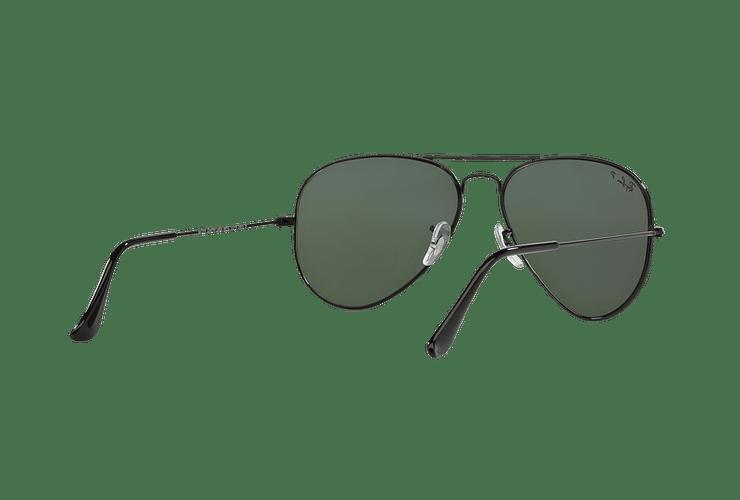 Ray Ban Aviador Black lente Crystal Green Polarized cod. RB3025 002/58 55 - Image 7