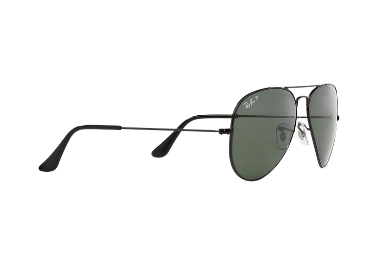 Ray-Ban Aviador Black lente Crystal Green Polarized cod. RB3025 002/58 55 - Image 10