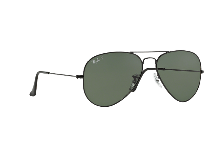 Ray-Ban Aviador Black lente Crystal Green Polarized cod. RB3025 002/58 55 - Image 11