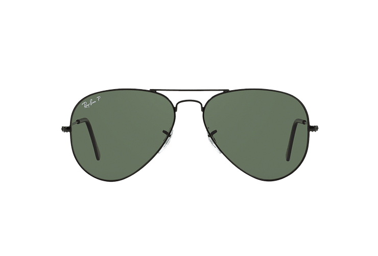 Ray-Ban Aviador Black lente Crystal Green Polarized cod. RB3025 002/58 55 - Image 12