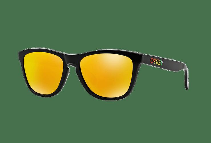 Oakley Frogskins Ed. Especial Valentino Rossi Polished Black lente Fire Iridium cod. 24-325 - Image 1