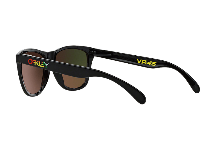 Oakley Frogskins Ed. Especial Valentino Rossi Polished Black lente Fire Iridium cod. 24-325 - Image 4