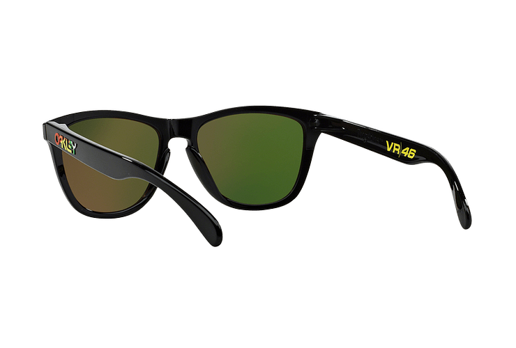 Oakley Frogskins Ed. Especial Valentino Rossi Polished Black lente Fire Iridium cod. 24-325 - Image 5