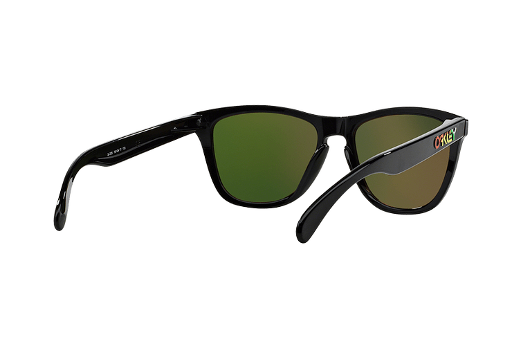 Oakley Frogskins Ed. Especial Valentino Rossi Polished Black lente Fire Iridium cod. 24-325 - Image 7