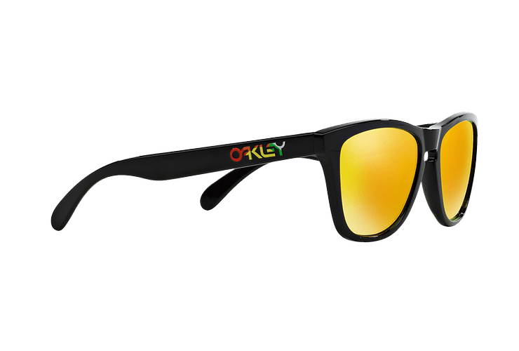 Oakley Frogskins Ed. Especial Valentino Rossi Polished Black lente Fire Iridium cod. 24-325 - Image 10