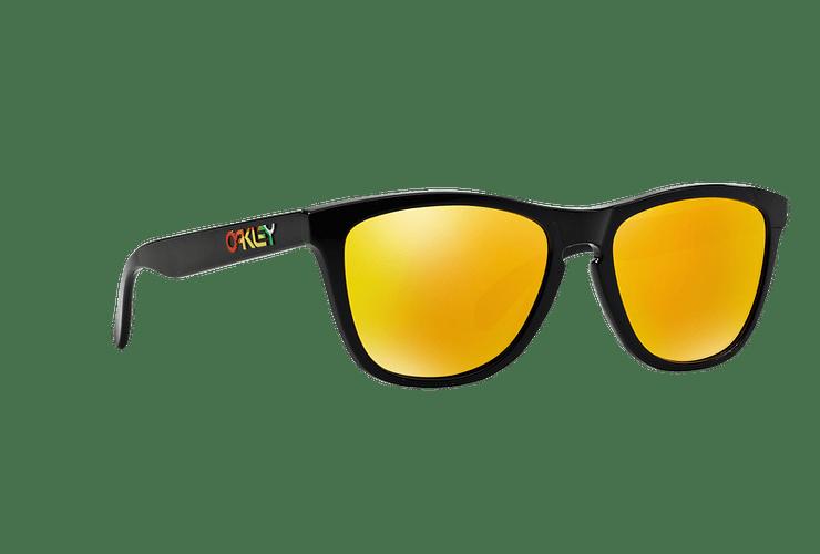 Oakley Frogskins Ed. Especial Valentino Rossi Polished Black lente Fire Iridium cod. 24-325 - Image 11
