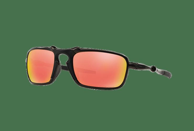 Oakley Badman Dark Carbon lente Ruby Iridium Polarized cod. OO6020-0360 - Image 1
