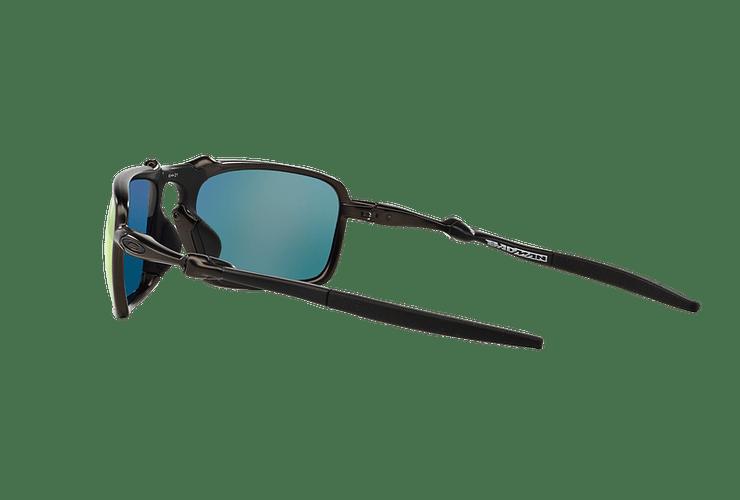 Oakley Badman Dark Carbon lente Ruby Iridium Polarized cod. OO6020-0360 - Image 4