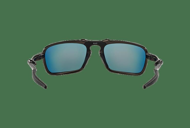 Oakley Badman Dark Carbon lente Ruby Iridium Polarized cod. OO6020-0360 - Image 6