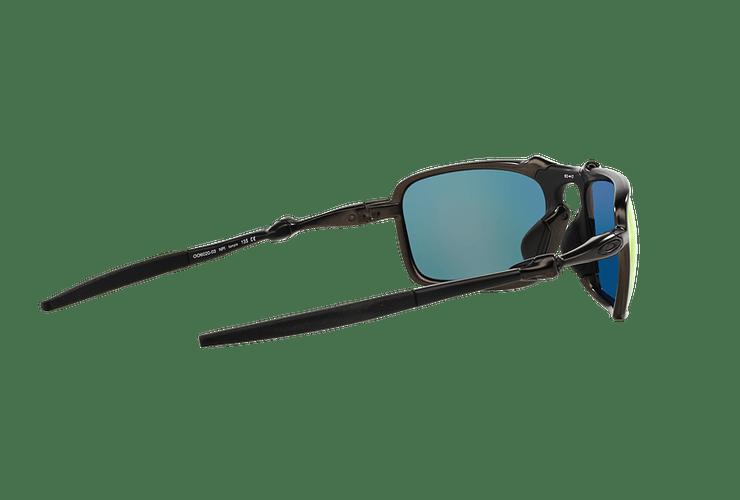 Oakley Badman Dark Carbon lente Ruby Iridium Polarized cod. OO6020-0360 - Image 8