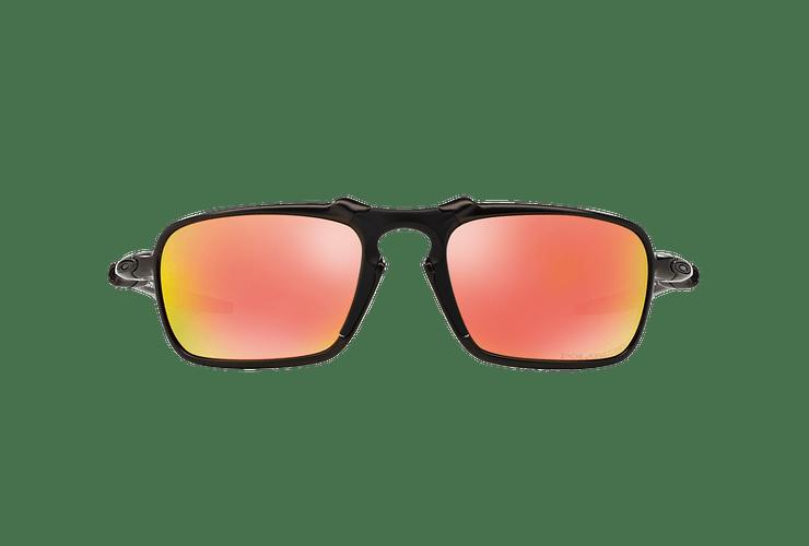 Oakley Badman Dark Carbon lente Ruby Iridium Polarized cod. OO6020-0360 - Image 12