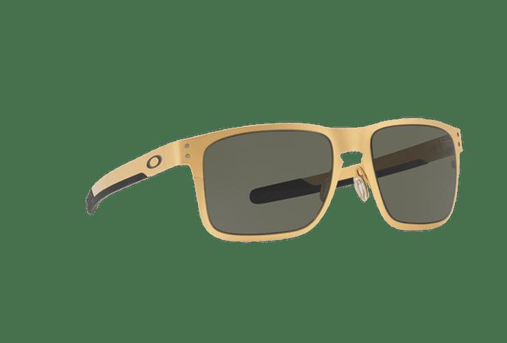 Oakley Holbrook Metal Satin Gold lente Dark Grey cod. OO4123-0855 - Image 11