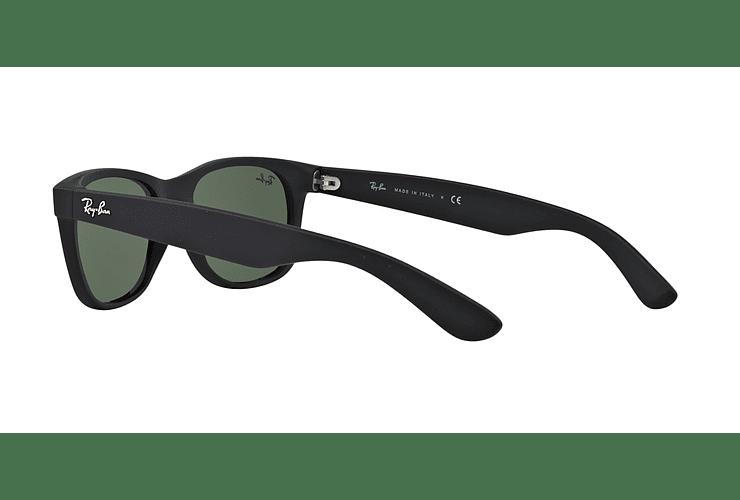 Ray Ban New Wayfarer Black Rubber lente Crystal Green cod. RB2132 622 58 - Image 4