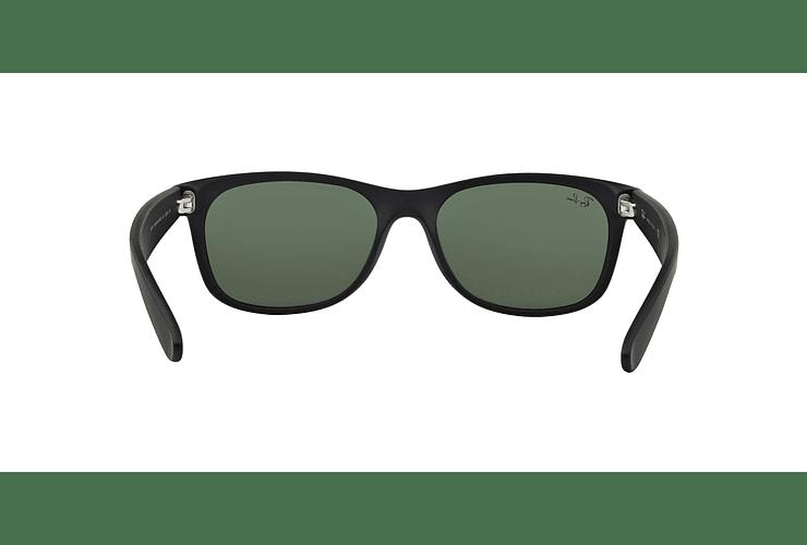 Ray Ban New Wayfarer Black Rubber lente Crystal Green cod. RB2132 622 58 - Image 6