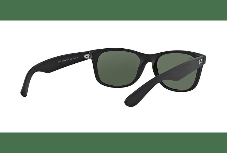 Ray Ban New Wayfarer Black Rubber lente Crystal Green cod. RB2132 622 58 - Image 7
