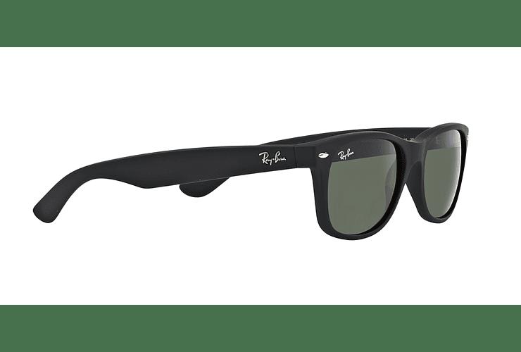 Ray Ban New Wayfarer Black Rubber lente Crystal Green cod. RB2132 622 58 - Image 10